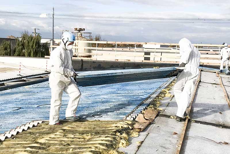 fasi di lavorazione dell'amianto compatto