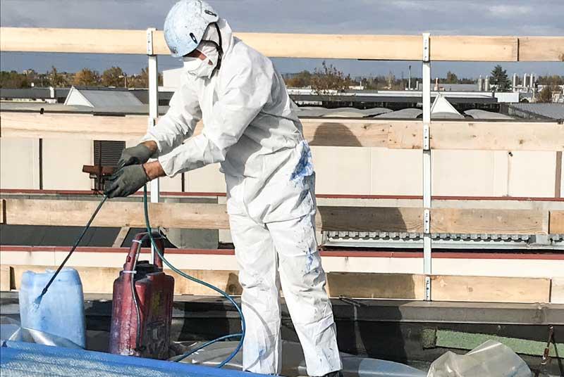 lavorazione dell'amianto compatto